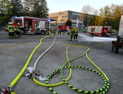 Große Feuerwehrübung bei Sieb- u. Tampondruck Gailing