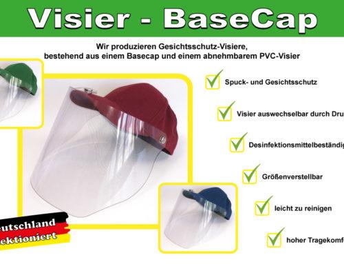 Innovativer Spritzschutz mit unserer Visier-BaseCap